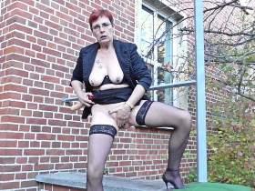 (M) a lively horny & nasty dildo public show