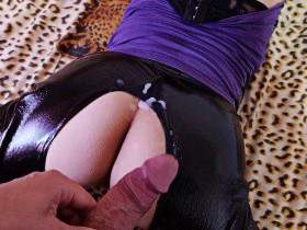 Latex wet pussy needs a hard fuck Part II