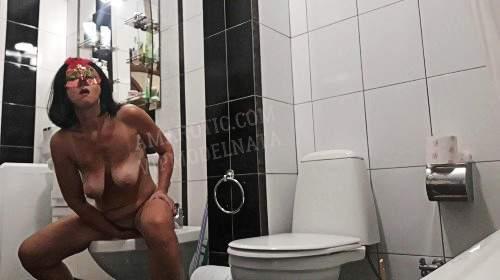 Auf die Toilette kacken