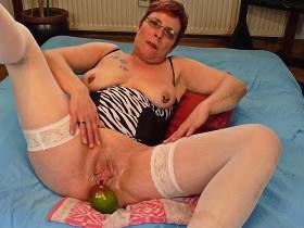 A big mango, the last part of my cunt training