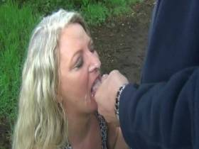 As swallowing whore beeen parking on the go! Part 4