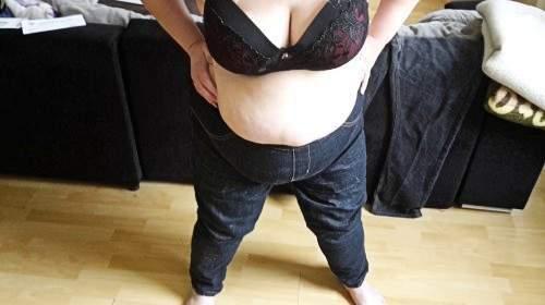 Asi wichsflecken Jeans eingepisst