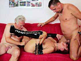 Licking, fingering, blowing with 2 guys