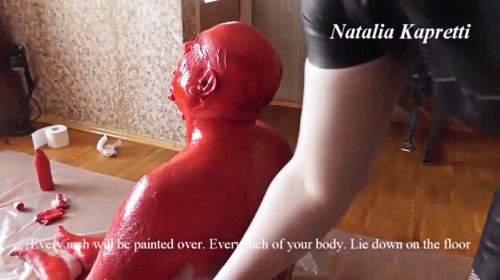 Aktualisiert die lebende Toilette, gemalt