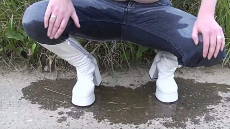 Man sex boots with piss girls