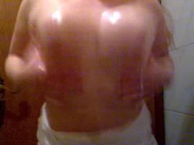 slippery breasts