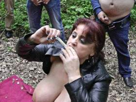 Outdoor on the road 16 X Cum on ...