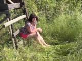 Erster Outdoor Pissfick mit Sperma ins Maul