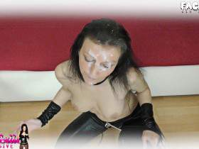 Assfuck with unrestrained leather bitch!