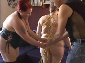 Bondage threesome 1
